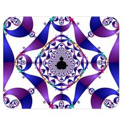 Ring Segments Double Sided Flano Blanket (medium)  by Simbadda