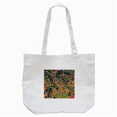 Floral Pattern Background Tote Bag (white) by Simbadda