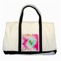 Decorative Fractal Spiral Two Tone Tote Bag by Simbadda