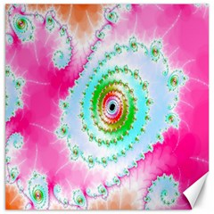 Decorative Fractal Spiral Canvas 20  X 20   by Simbadda