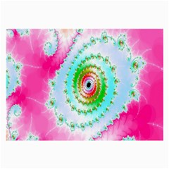 Decorative Fractal Spiral Large Glasses Cloth (2 Side) by Simbadda