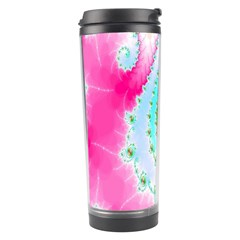 Decorative Fractal Spiral Travel Tumbler by Simbadda