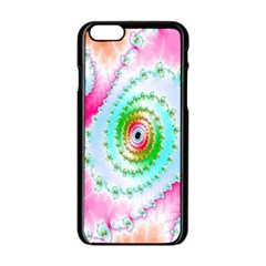 Decorative Fractal Spiral Apple Iphone 6/6s Black Enamel Case by Simbadda