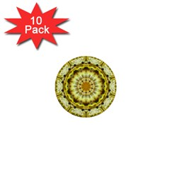 Fractal Flower 1  Mini Buttons (10 Pack)  by Simbadda