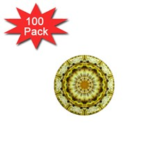 Fractal Flower 1  Mini Magnets (100 Pack)  by Simbadda