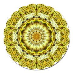 Fractal Flower Magnet 5  (round) by Simbadda