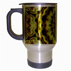 Fractal Flower Travel Mug (silver Gray) by Simbadda