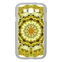 Fractal Flower Samsung Galaxy Grand Duos I9082 Case (white) by Simbadda