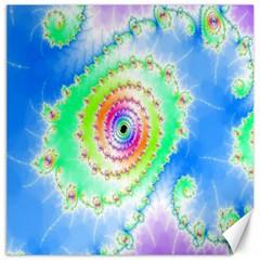 Decorative Fractal Spiral Canvas 16  X 16   by Simbadda