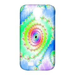 Decorative Fractal Spiral Samsung Galaxy S4 Classic Hardshell Case (pc+silicone) by Simbadda