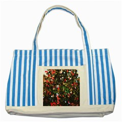 Colorful Abstract Background Striped Blue Tote Bag by Simbadda