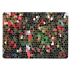 Colorful Abstract Background Samsung Galaxy Tab 10 1  P7500 Flip Case by Simbadda