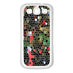 Colorful Abstract Background Samsung Galaxy S3 Back Case (white) by Simbadda