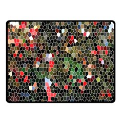 Colorful Abstract Background Double Sided Fleece Blanket (small)  by Simbadda