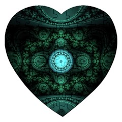 Grand Julian Fractal Jigsaw Puzzle (heart) by Simbadda