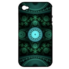 Grand Julian Fractal Apple Iphone 4/4s Hardshell Case (pc+silicone) by Simbadda