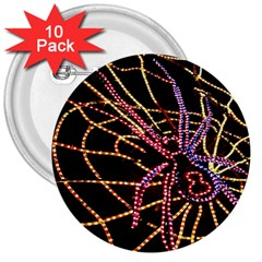 Black Widow Spider, Yellow Web 3  Buttons (10 Pack)  by Simbadda