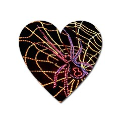 Black Widow Spider, Yellow Web Heart Magnet by Simbadda