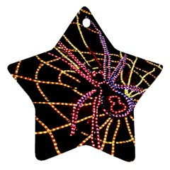 Black Widow Spider, Yellow Web Star Ornament (two Sides) by Simbadda