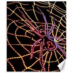 Black Widow Spider, Yellow Web Canvas 20  X 24   by Simbadda