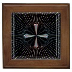 Fractal Rays Framed Tiles by Simbadda