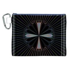 Fractal Rays Canvas Cosmetic Bag (xxl) by Simbadda