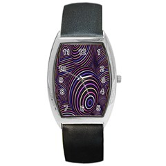 Abstract Colorful Spheres Barrel Style Metal Watch by Simbadda