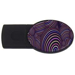 Abstract Colorful Spheres Usb Flash Drive Oval (4 Gb) by Simbadda