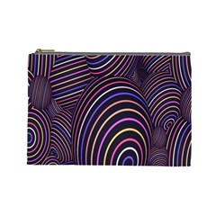 Abstract Colorful Spheres Cosmetic Bag (large)  by Simbadda