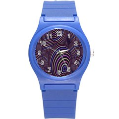 Abstract Colorful Spheres Round Plastic Sport Watch (s) by Simbadda