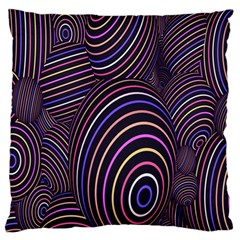 Abstract Colorful Spheres Standard Flano Cushion Case (one Side) by Simbadda