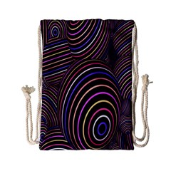Abstract Colorful Spheres Drawstring Bag (small) by Simbadda
