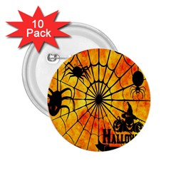 Halloween Weird  Surreal Atmosphere 2 25  Buttons (10 Pack)  by Simbadda