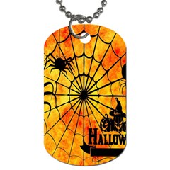 Halloween Weird  Surreal Atmosphere Dog Tag (one Side) by Simbadda
