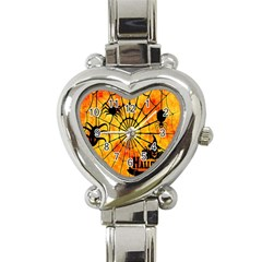 Halloween Weird  Surreal Atmosphere Heart Italian Charm Watch