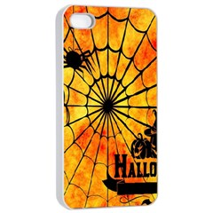 Halloween Weird  Surreal Atmosphere Apple Iphone 4/4s Seamless Case (white) by Simbadda