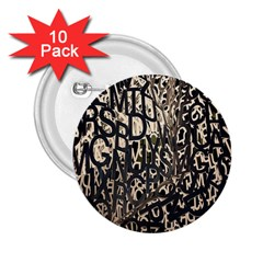 Wallpaper Texture Pattern Design Ornate Abstract 2 25  Buttons (10 Pack)  by Simbadda