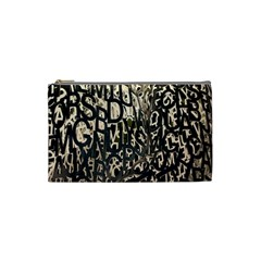Wallpaper Texture Pattern Design Ornate Abstract Cosmetic Bag (small)  by Simbadda