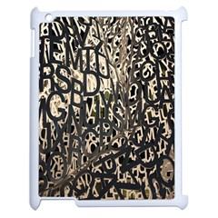 Wallpaper Texture Pattern Design Ornate Abstract Apple Ipad 2 Case (white) by Simbadda