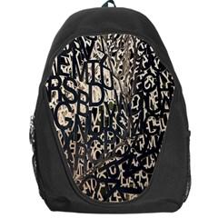 Wallpaper Texture Pattern Design Ornate Abstract Backpack Bag by Simbadda