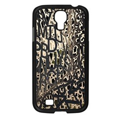 Wallpaper Texture Pattern Design Ornate Abstract Samsung Galaxy S4 I9500/ I9505 Case (black) by Simbadda