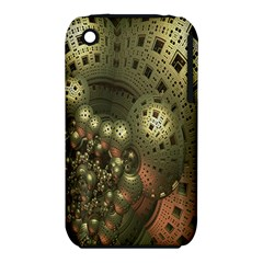 Geometric Fractal Cuboid Menger Sponge Geometry Iphone 3s/3gs by Simbadda