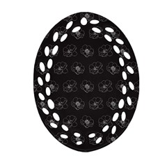 Floral Pattern Oval Filigree Ornament (two Sides) by Valentinaart