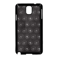 Floral Pattern Samsung Galaxy Note 3 Neo Hardshell Case (black) by Valentinaart