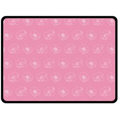 Pink Pattern Fleece Blanket (large)  by Valentinaart