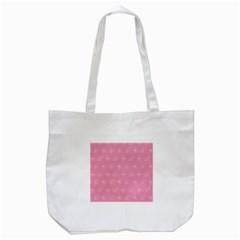 Pink Pattern Tote Bag (white) by Valentinaart