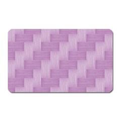 Purple Pattern Magnet (rectangular) by Valentinaart