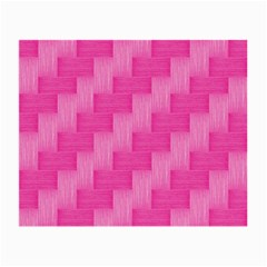Pink Pattern Small Glasses Cloth (2 Side) by Valentinaart