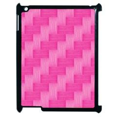 Pink Pattern Apple Ipad 2 Case (black) by Valentinaart