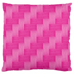 Pink Pattern Large Cushion Case (one Side) by Valentinaart